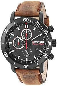 Wenger Swiss Military Men's 01.1843.107 Roadster Black Night Chronograph Watch