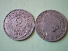 PIECE DE 2 FRANCS 1945  MORLON en  ALUMINIUM