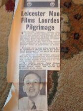 Ephemera 1958 May Cutting Michael Redington Atv Producer Leicester Lourdes M47