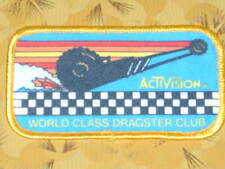 ~ Atari Video Game Vintage 80's Activision Patch - World Class Dragster Club ~