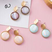 Fashion Geoemtric Acrylic Ear Stud Drop Dangle Earrings Resin Women Jewelry Gift