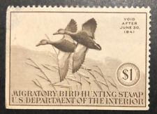TDStamps: US Federal Duck Stamps Scott#RW7 Mint H OG Thin