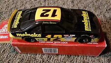 Racing Champions 1:24 #12 Jimmy Spencer Meineke Diecast Coin Bank with lock.