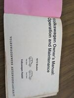 1985 Volkswagen Rabbit Owners Manual