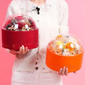 TRANSPARENT GIFT BOX ROUND CAKE CHOCOLATE ROSE HOLDER EXQUISITE VALENTINE DECOR