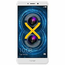 """Huawei Honor 6X 32GB Unlocked Smartphone 5.5"""" U.S. Warranty Android Silver NEW"""