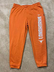 NIKE Therma DRI-FIT TEXAS LONGHORNS Orange Athletic Running Pants Mens 2XL