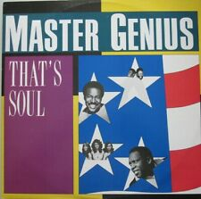 "MASTER GENIUS - THAT'S SOUL - 12""  SINGLE 45 RPM"
