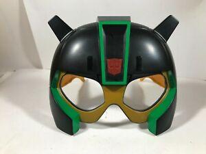 TRANSFORMERS Black Green Gold Plastic Face Mask Glasses