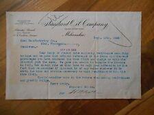 Antique 1903 Standard Oil Co. Sales Dept. Milwaukee Wisconsin Paper Letter Adver