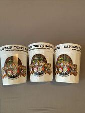 New listing Key West Captain Tonys Souvenir Cups Set Of 3 Pirate Punch Man Cave Bar