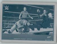 2015 WWE Road to Wrestlemania Roman Reigns Printing Plate Cyan 1/1