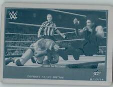 2015 WWE Road to Wrestlemania Roman Reigns Printing Plate Cyan 1/1