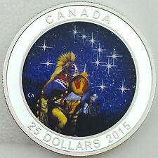 Canada 2015 $25 The Quest One Oz. Pure Silver Glow-in-the-Dark Color Proof Coin