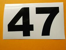 2 Single Race Car or Vintage Motorcross  numbers 120 mm high - Choose colour