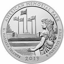 2019 American Memorial Park 5oz Silver ATB America Beautiful BU SKU57700