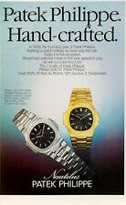 Publicité papier WATCH MONTRE PATEK Dec 1979 NG P1018517