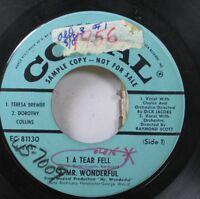 50'S & 60'S Promo 45 Mr. Wonderful - A Tear Fell / Teenage Meeting On Coral