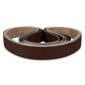 """1-1/2"""" x 30"""" Inch Aluminum Oxide Pipe and Tube Sanding Belts 80 Grit - 10 PACK"""