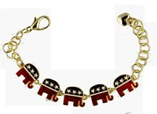 Enamel Republican Logo Bracelet