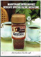 Publicité Advertising 1977 Le café Soluble Nescafé special Filtre