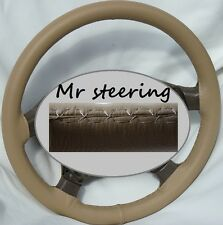 FOR NISSAN PATROL 1997-10 TOP QUALITY BEIGE ITALIAN LEATHER STEERING WHEEL COVER