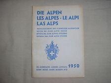 Revue du club alpin Suisse die Alpen les Alpes Le Alpi montagne escalade 3 1950