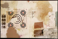 SJART modern mixed media abstract collage painting