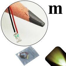 50 x 12v 1206 3216 Warm Soft White SMD LED Pre-Wired Light Soldered Leads 18v