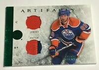 Sam Gagner /24 Artifacts Jersey Patch Emerald Insert Parallel Hockey Card 55