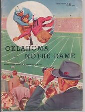 1952 Oklahoma vs Notre Dame original football program Billy Vessels Heisman