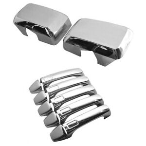 FOR 2006-2010 HUMMER H3 CHROME MIRROR + DOOR HANDLE + TAILGATE COVERS TRIM BEZEL