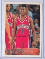 🔥🔥🔥 1996-97 Topps ALLEN IVERSON ROOKIE Card RC #171 76ers *HOF*  🔥🔥🔥