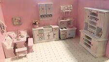 1.12 Shabby Chic Dollhouse Miniature Furniture Plus Accessories