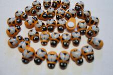10 COCCINELLE API  BEE legno dipinto MM 13X 9  CON ADESIVO x DECORARE BOMBONIERE