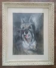 Vintage PastelDog Portrait ~ Signed, Framed, Dated 1979 ~A VERY FINE PICTURE!
