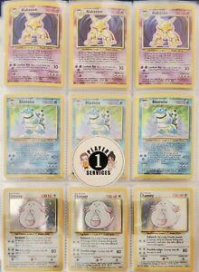 ONE BASE SET HOLO RARE POKEMON CARD ( Authentic 1999 WOTC Gen 1 Pokémon ! )