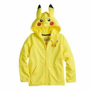 Sz 4-12 Kids Pokemon Pikachu Hoodie Boy Girl Jacket 4 5 6 7 8 Halloween Costume