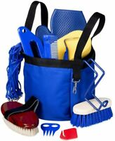 Tough-1 Royal Blue 12 Piece Show Time Groomer's Kit  Horse Tack