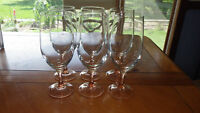 Iced Tea Glasses in Rose by Cristal D'Arques-Durand made in France 6 16oz stems