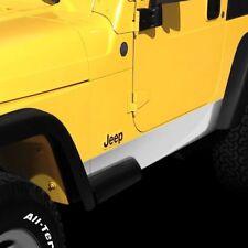 CHROME Rocker Panel Covers 1997 - 2006 Jeep Wrangler TJ Side Body Trim Molding