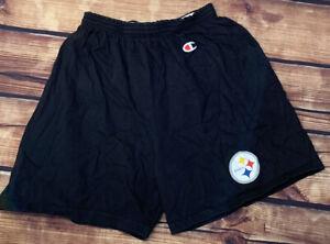 VTG 90's Champion Pittsburgh Steelers NFL Shorts Men's SZ L Players Sideline