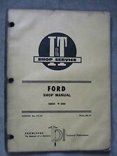 Ford Series 8000 I&T tractor shop Service manual Fo-25
