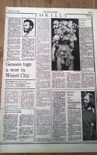 GENESIS New York Academy concert review 1974 UK ARTICLE / clipping