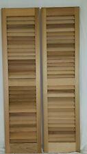 Cedar Louvered Shutters 12 x 47 inches