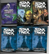 Star Trek 1- Starter plus 5- Booster Packs ALL Factory Sealed