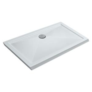 Duschwanne Duschtasse mit Abfluss seitig für barrierefreies Bad Acryl 90 x 80 cm