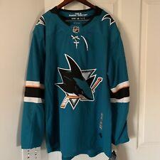 SAN JOSE SHARKS size 50 Large Home style ADIDAS NHL HOCKEY JERSEY Authentic usa