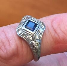 Antique / Vintage Platinum Diamond Ring.  Victorian Style
