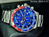 Invicta Men's 45mm PILOT Specialty Chronograph BLUE DIAL Red & Blue Bezel Watch